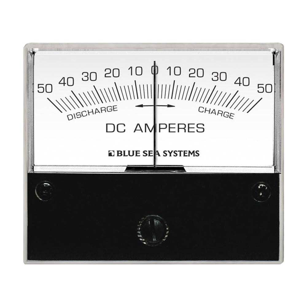"Blue Sea 8252 DC Zero Center Analog Ammeter - 2-3-4"" Face, 50-0-50 Amperes DC [8252]"
