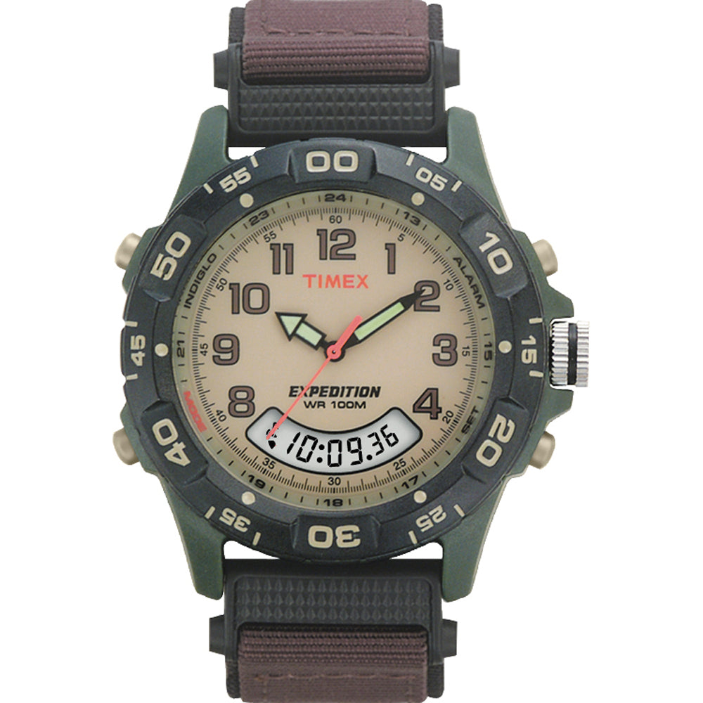 Timex Expedition Resin Combo Classic Analog Green-Black-Brown [T45181]