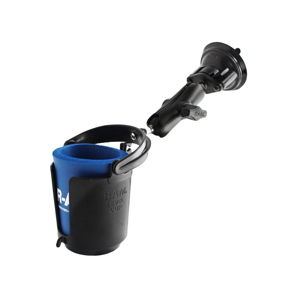 RAM Mount Drink Cup Holder w-Suction Base [RAM-B-132SU]