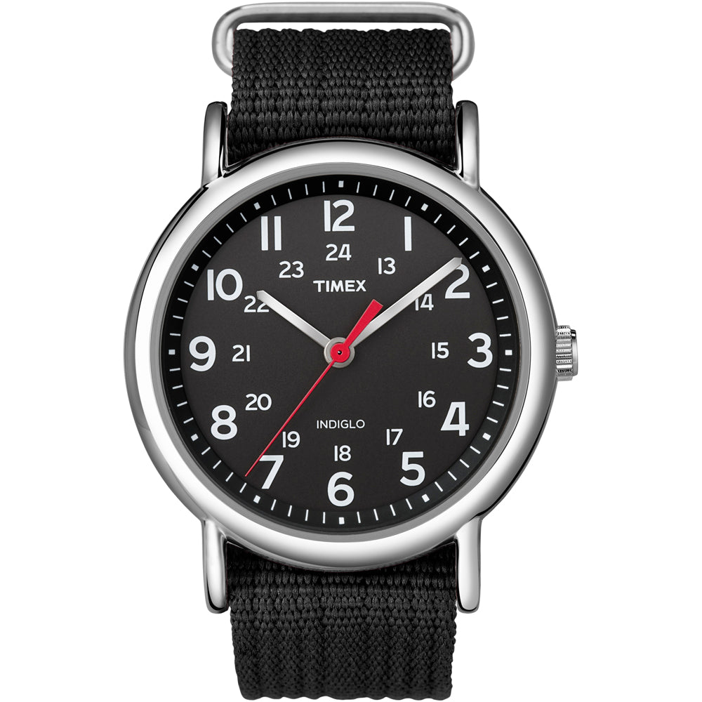 Timex Weekender Slip-Thru Watch - Black-Black [T2N647]