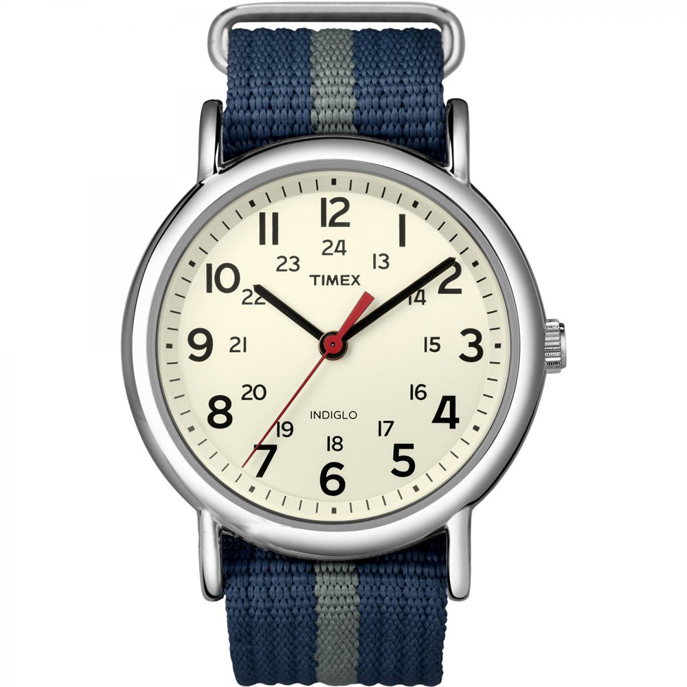 Timex Weekender Slip-Thru Watch - Navy-Gray [T2N654]