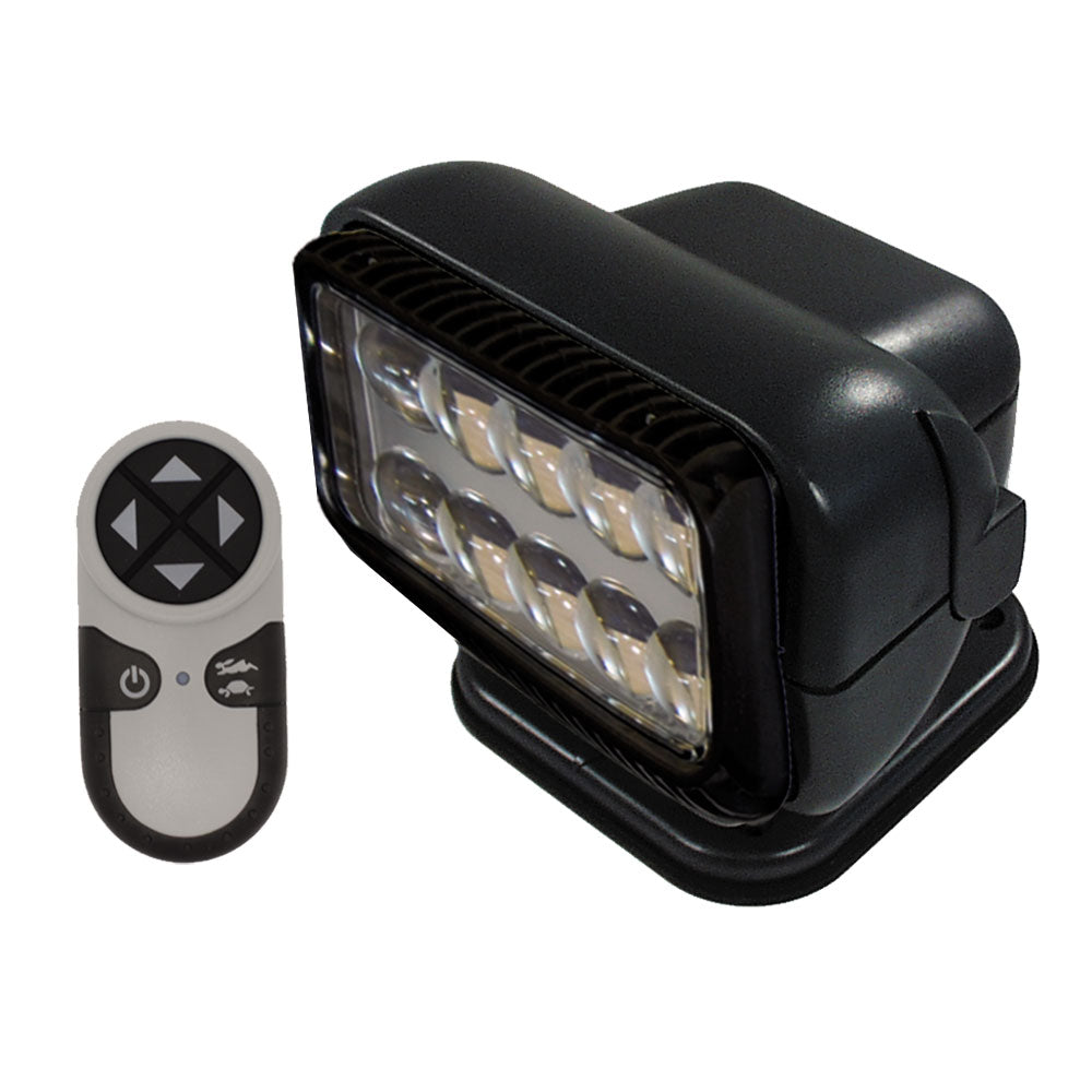 Golight Permanent RadioRay LED w-Wireless Hand-Held Remote - Black [20514]
