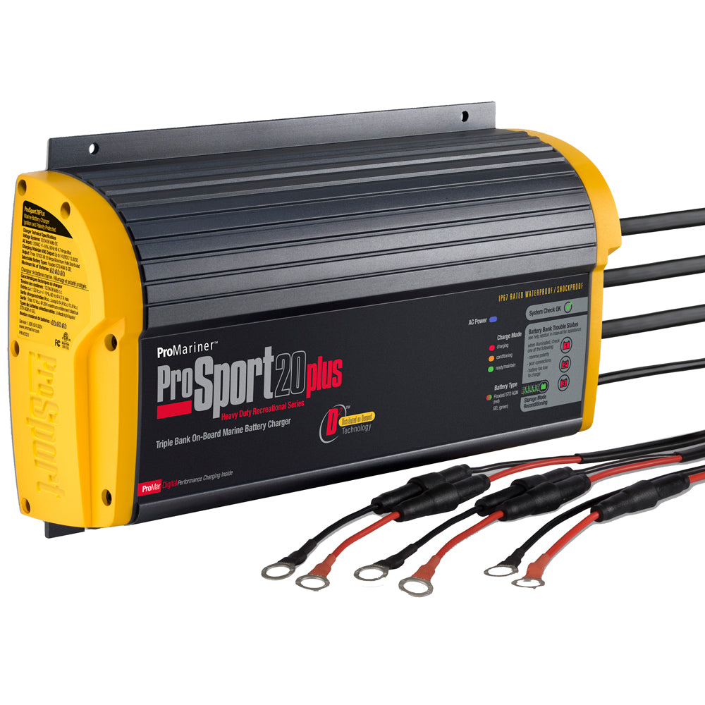 ProMariner ProSport 20 Plus Gen 3 Heavy Duty Recreational Series On-Board Marine Battery Charger - 20 Amp - 3 Bank [43021]