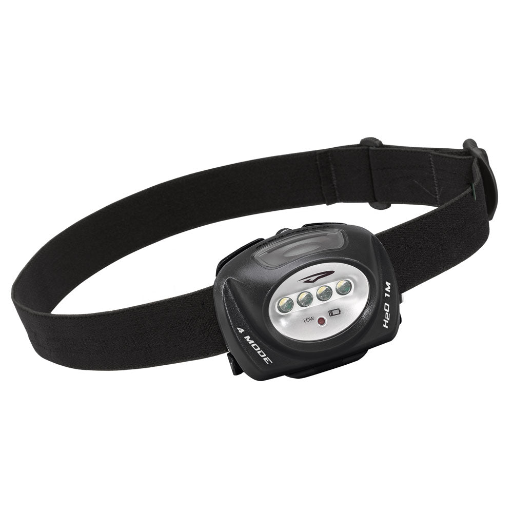 Princeton Tec QUAD Industrial 78 Lumen Headlamp - Black [QUAD-IND]