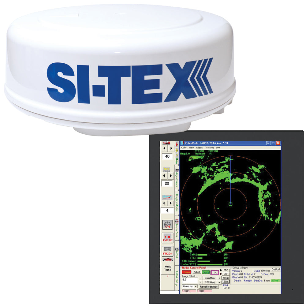 SI-TEX MDS-8R Radar Sensor Package Includes 2kW-24nm Radome Antenna, 33 Cable  P-Sea Software [MDS-8R]