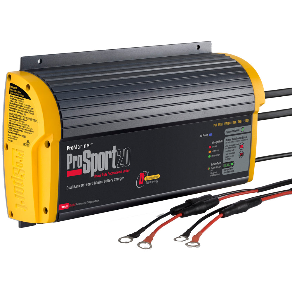ProMariner ProSport 20 PFC Gen 3 Heavy Duty Recreational Series On-Board Marine Battery Charger - 20 Amp - 2 Bank [43028]