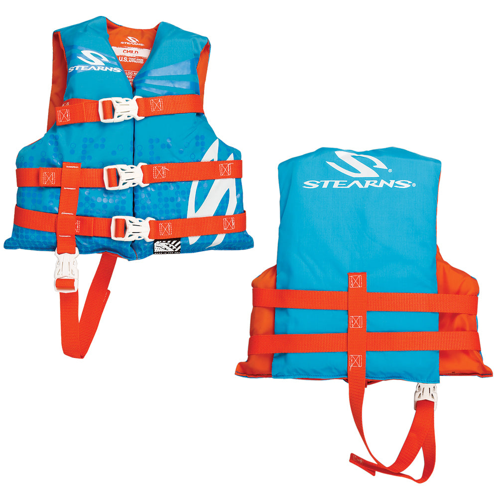 Stearns Child Classic Nylon Vest Life Jacket - 30-50lbs - Abstract Wave [3000002196]
