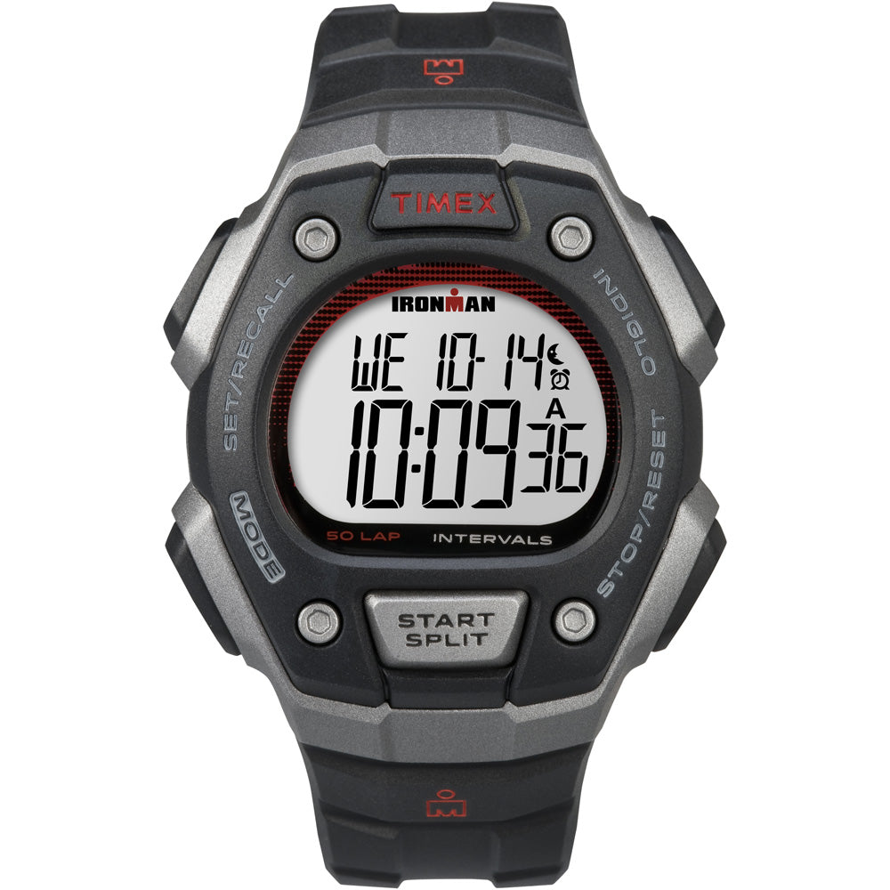 Timex Ironman Classic 50-Lap Full-Size Watch - Silver-Red [TW5K85900]