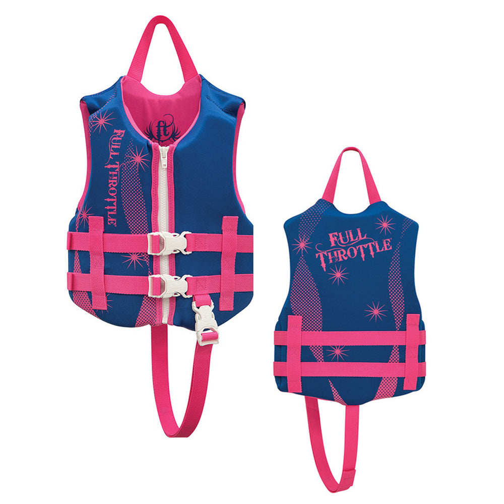 Full Throttle Rapid-Dry Life Vest - Child 30-50lbs - Blue-Pink [142100-500-001-16]