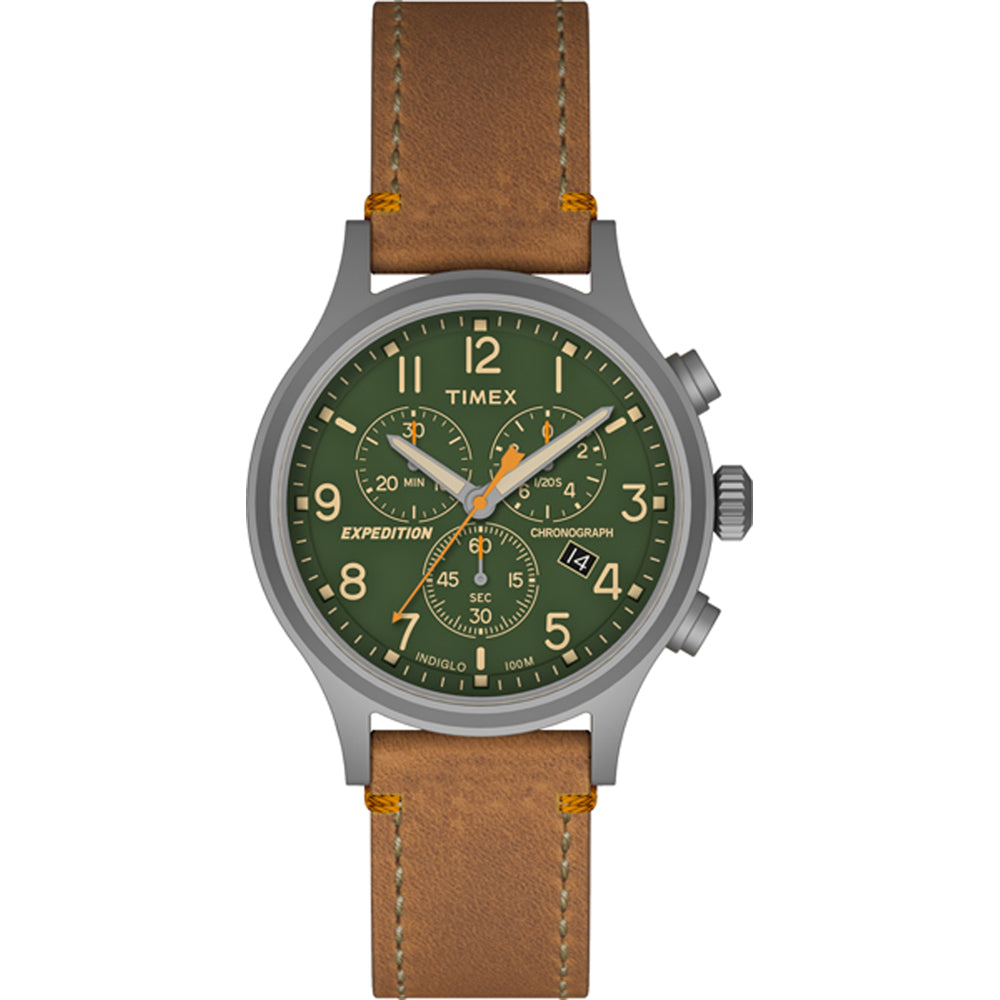 Timex Expedition Scout Chrono Watch - Tan-Green [TW4B044009J]