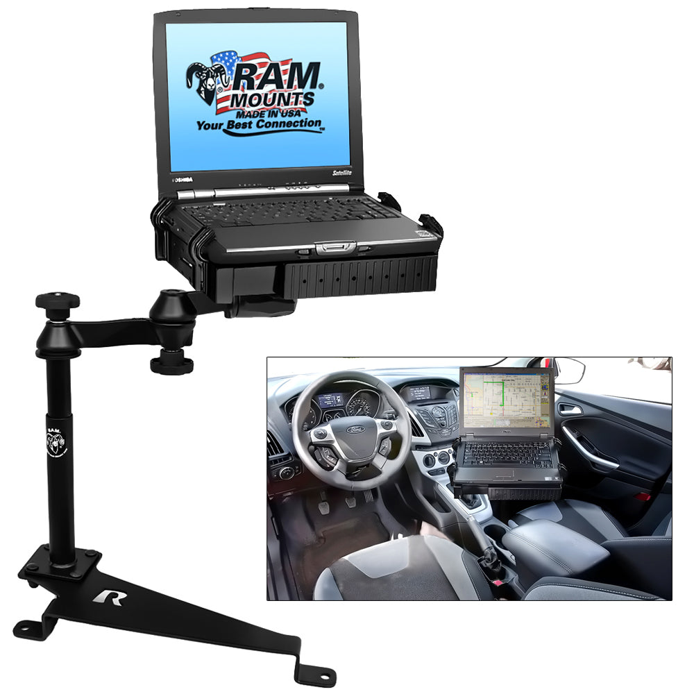 RAM Mount No-Drill Laptop Mount f-Dodge Journey, Ford Escape, Ford Focus, Jeep Compass & Jeep Patriot [RAM-VB-188-SW1]