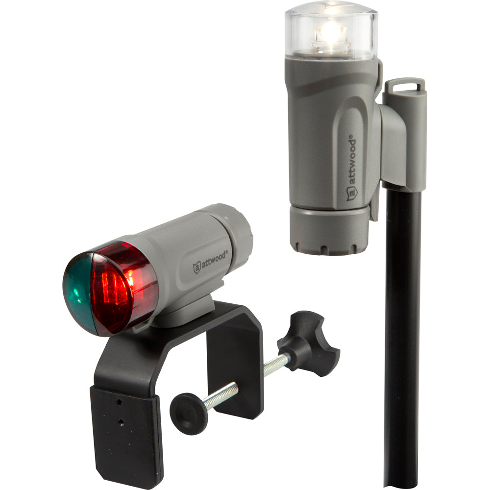 Attwood Clamp-On Portable LED Light Kit - Marine Gray [14190-7]