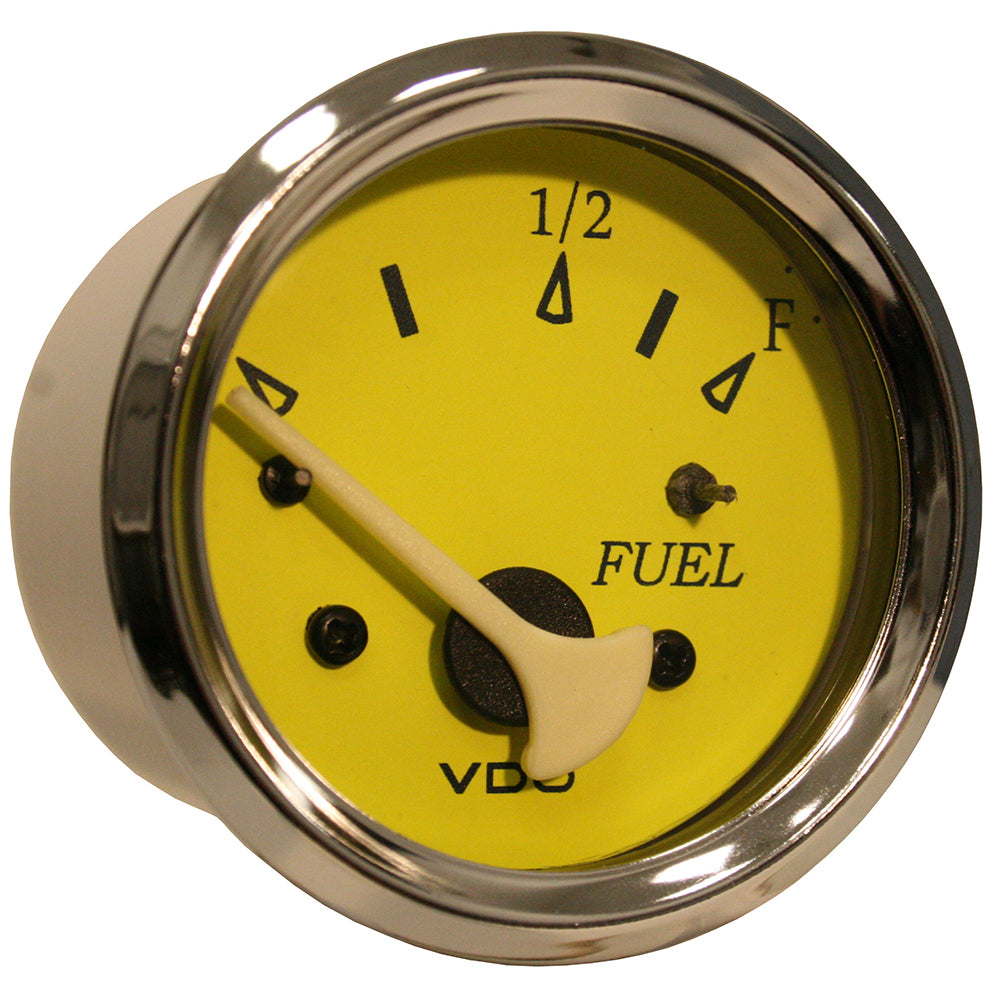 VDO Allentare Yellow-Blue Fuel Level Gauge - Use w-Marine 240-33 Ohm Fuel Senders - 12V [301-14761]