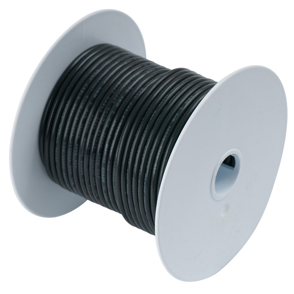 Ancor Black 8 AWG Tinned Copper Wire - 25' [111002]