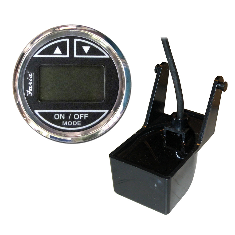 "Faria Chesapeake SS Black 2"" Depth Sounder w-Transom Mount Transducer [13750]"