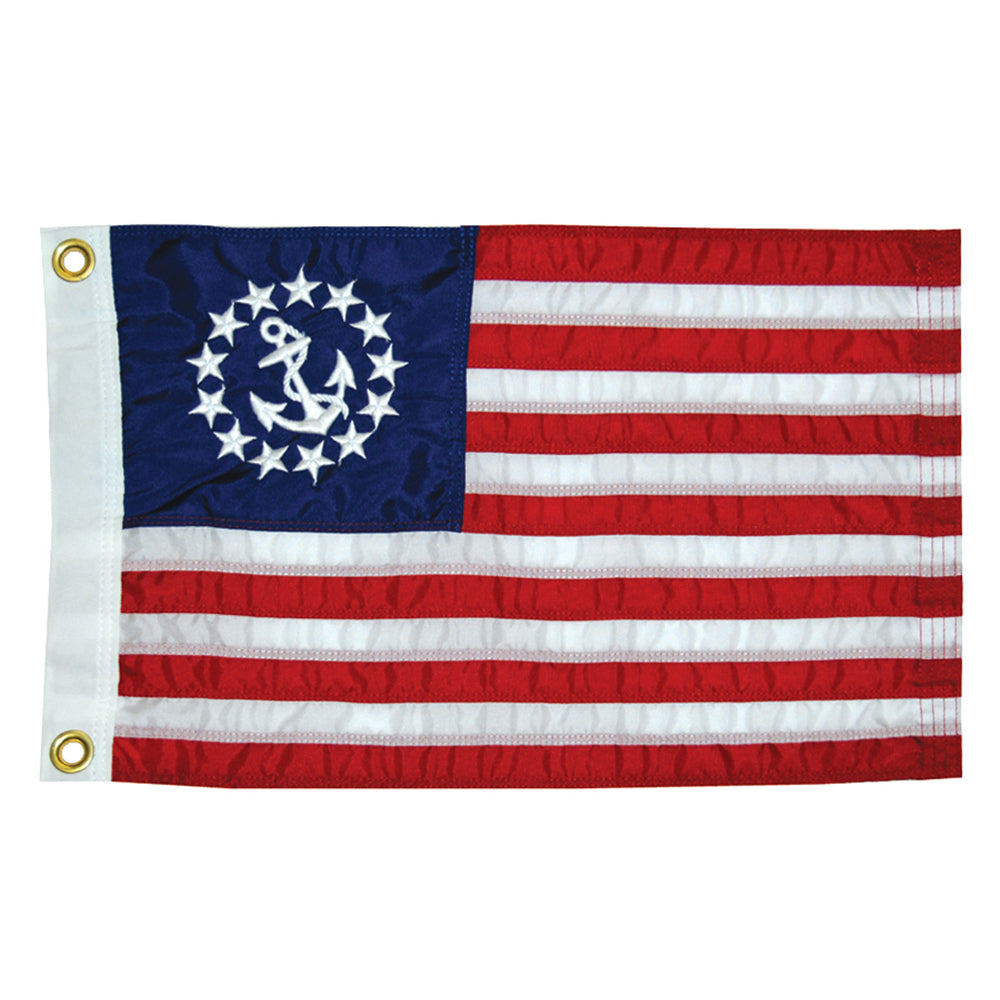 "Taylor Made 12"" x 18"" Deluxe Sewn US Yacht Ensign Flag [8118]"