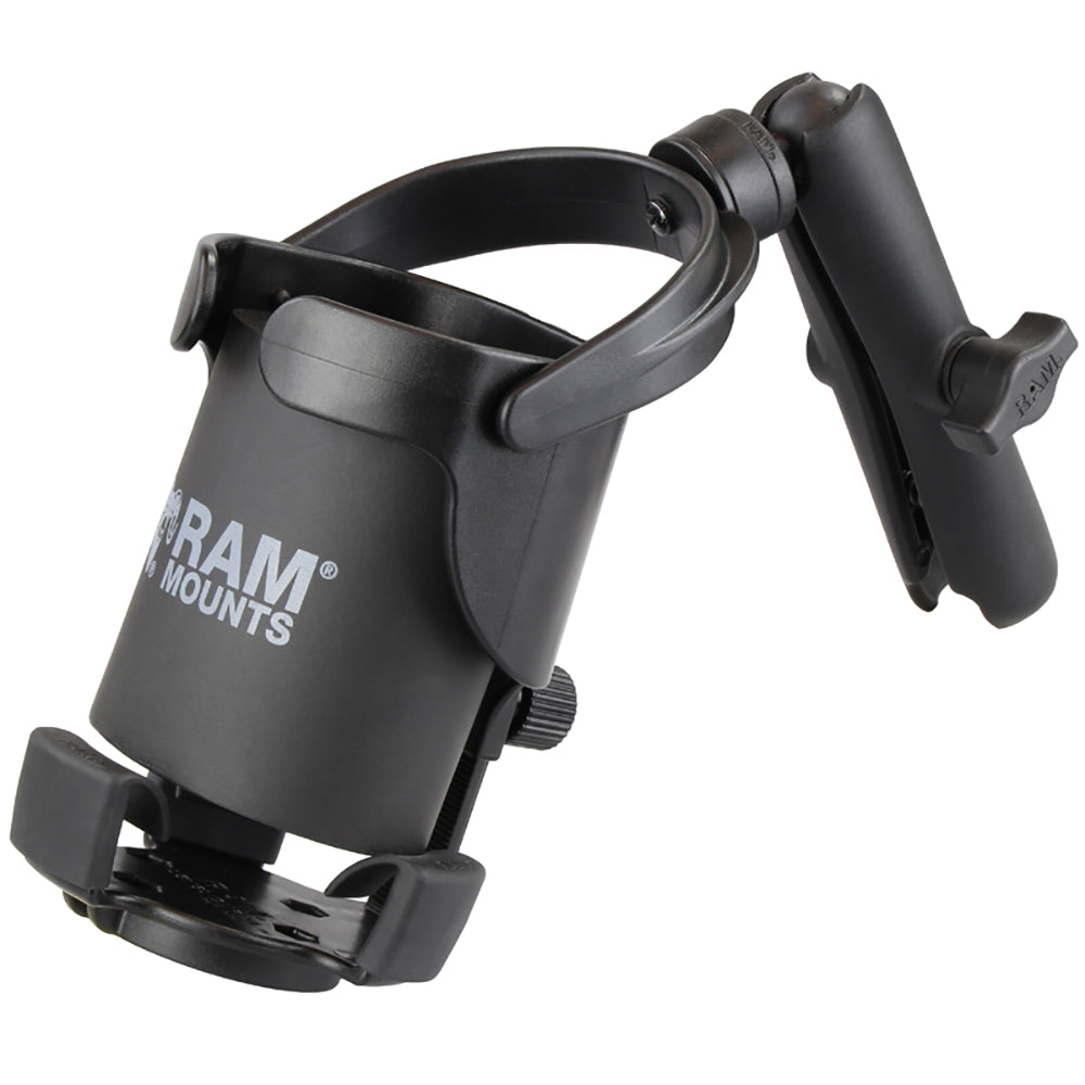 RAM Mount Level Cup XL w-Long Double Socket Arm [RAM-B-417B-C-201U]