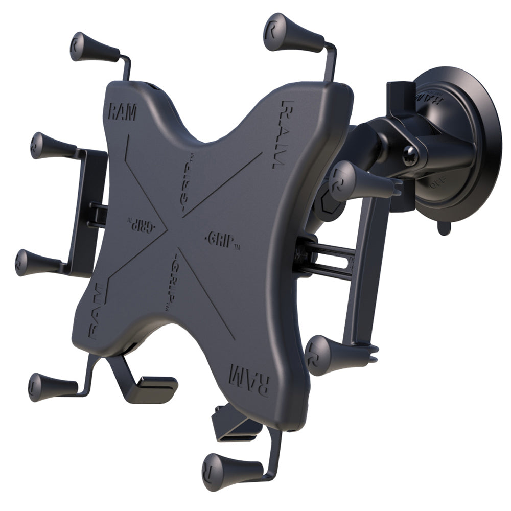 "RAM Mount Twist-Lock Suction Cup Mount w-Universal X-Grip Cradle for 12"" Large Tablets [RAM-B-166-UN11U]"