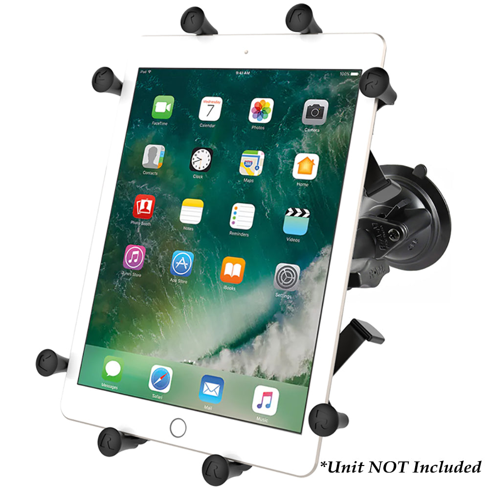 "RAM Mount Twist-Lock Suction Cup Mount w-Universal X-Grip Cradle for 10"" Large Tablets [RAM-B-166-UN9U]"