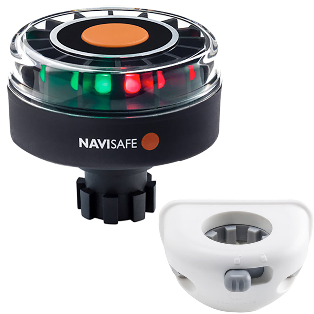 Navisafe Navilight Tricolor 2NM w-Navibolt Base  Vertical Mount - White [342KIT6]