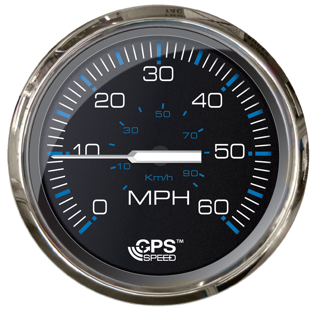 "Faria Chesepeake Black SS 4"" Studded Speedometer - 60MPH (GPS) [33749]"
