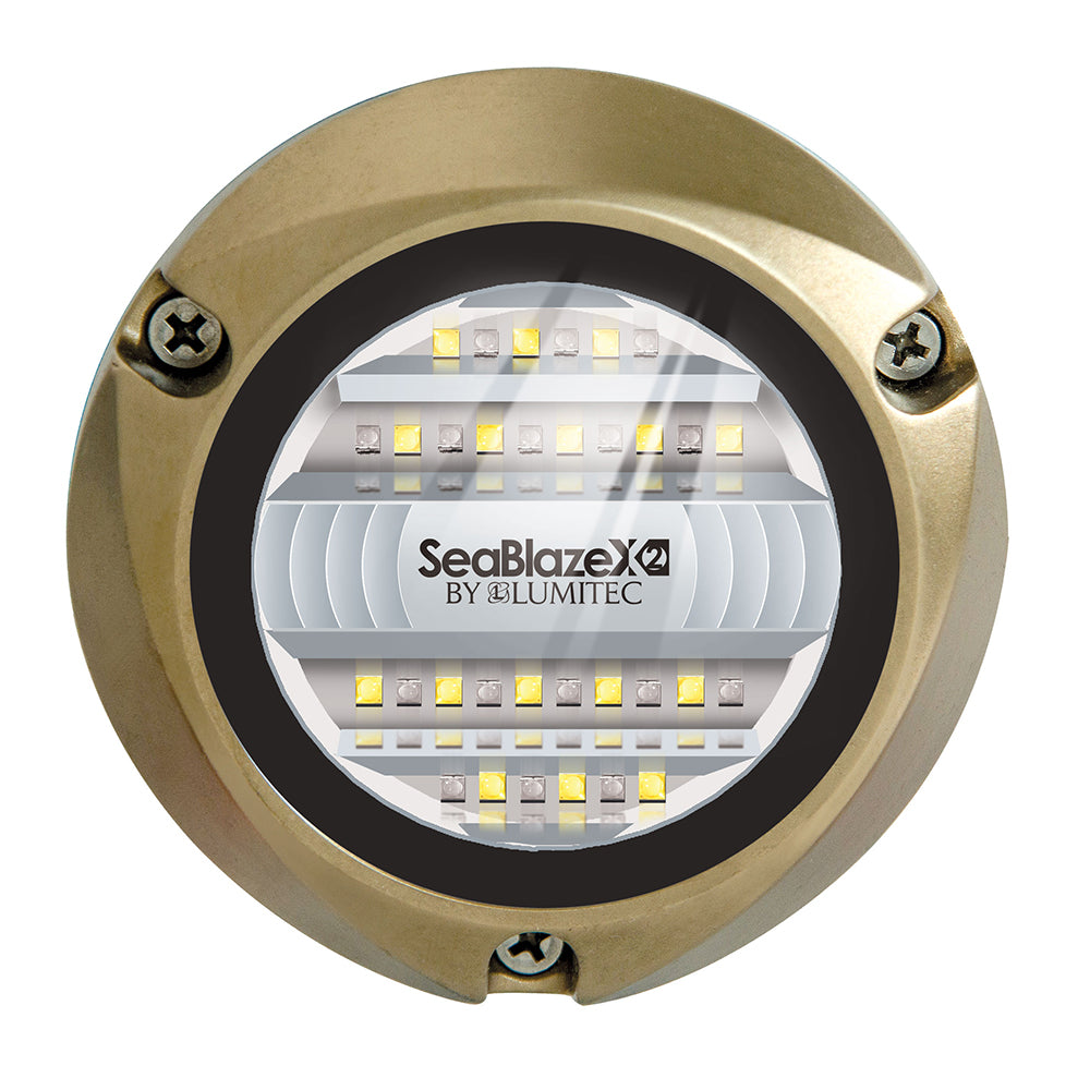 Lumitec SeaBlazeX2 LED Underwater Light - Dual Color - White-Blue [101516]