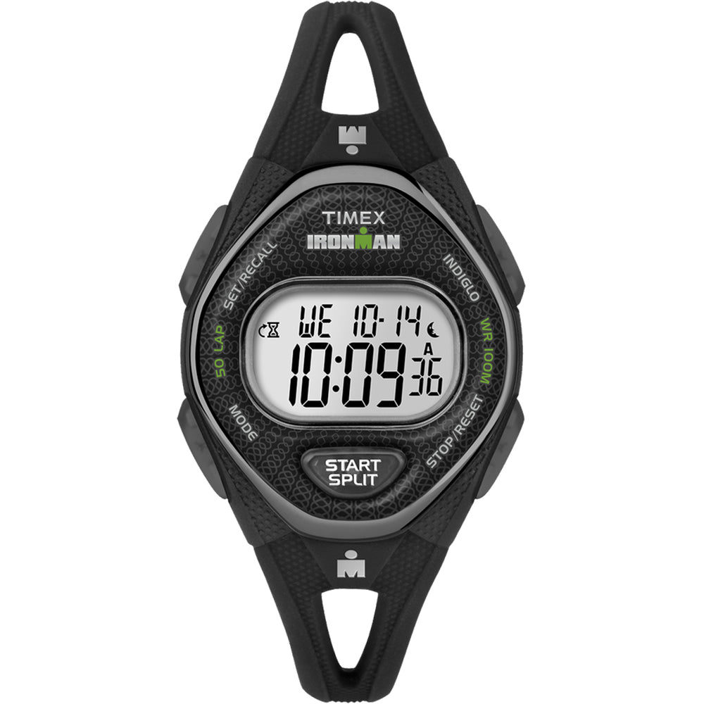 Timex IRONMAN Sleek 50 Mid-Size Silicone Womens Watch - Black [TW5M10900JV]
