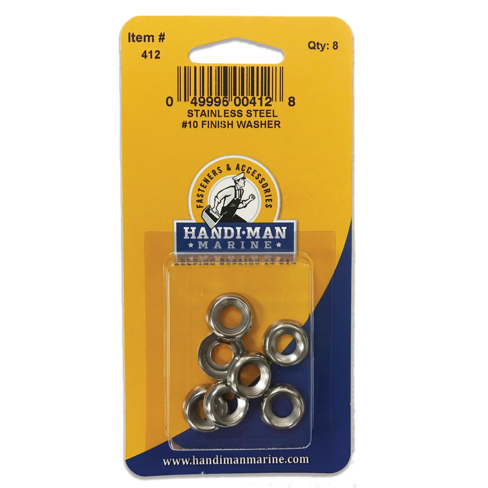 Handi-Man Stainless Steel Finish Washer #10 [412]