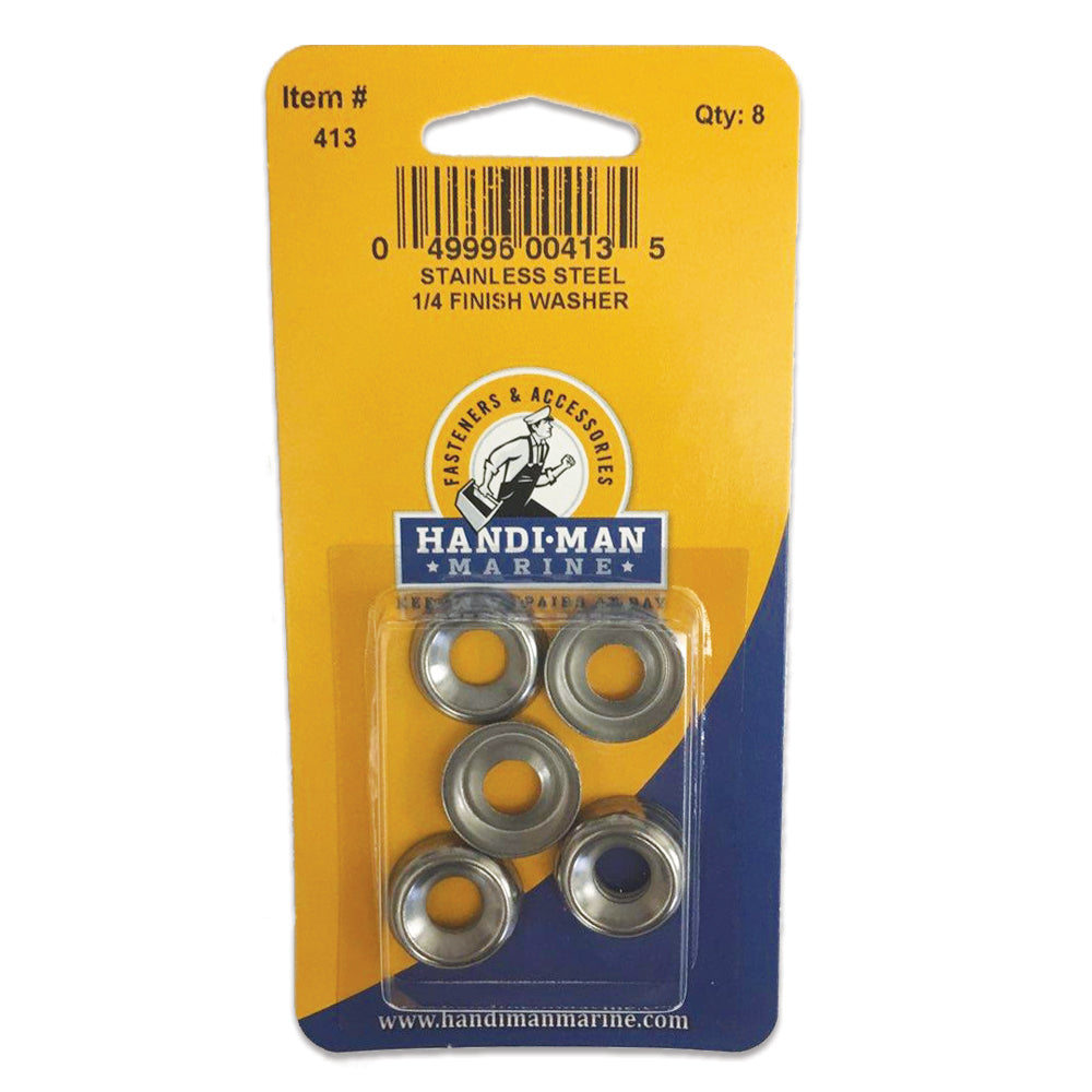 Handi-Man Stainless Steel Finish Washer - 1-4 [413]