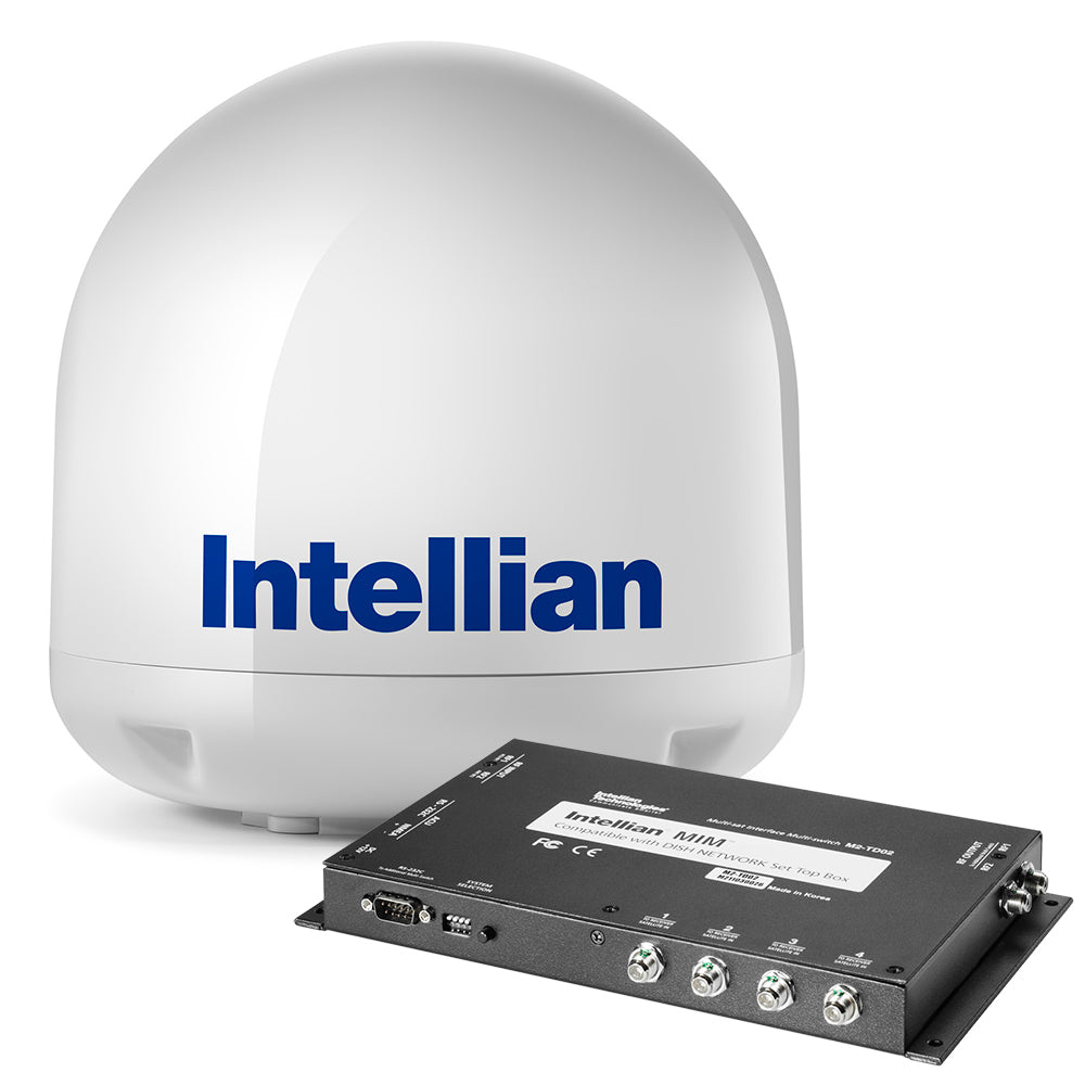 Intellian i3 US System + Dish-Bell MIM Switch w-RG6 1m Cable + RG6 Cable 15m [B4-I3DN]