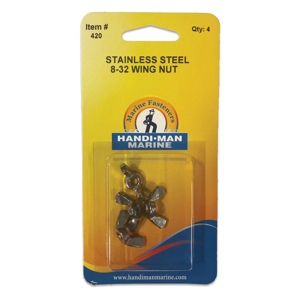 Handi-Man Stainless Steel Wing Nut - #8-32 [420]
