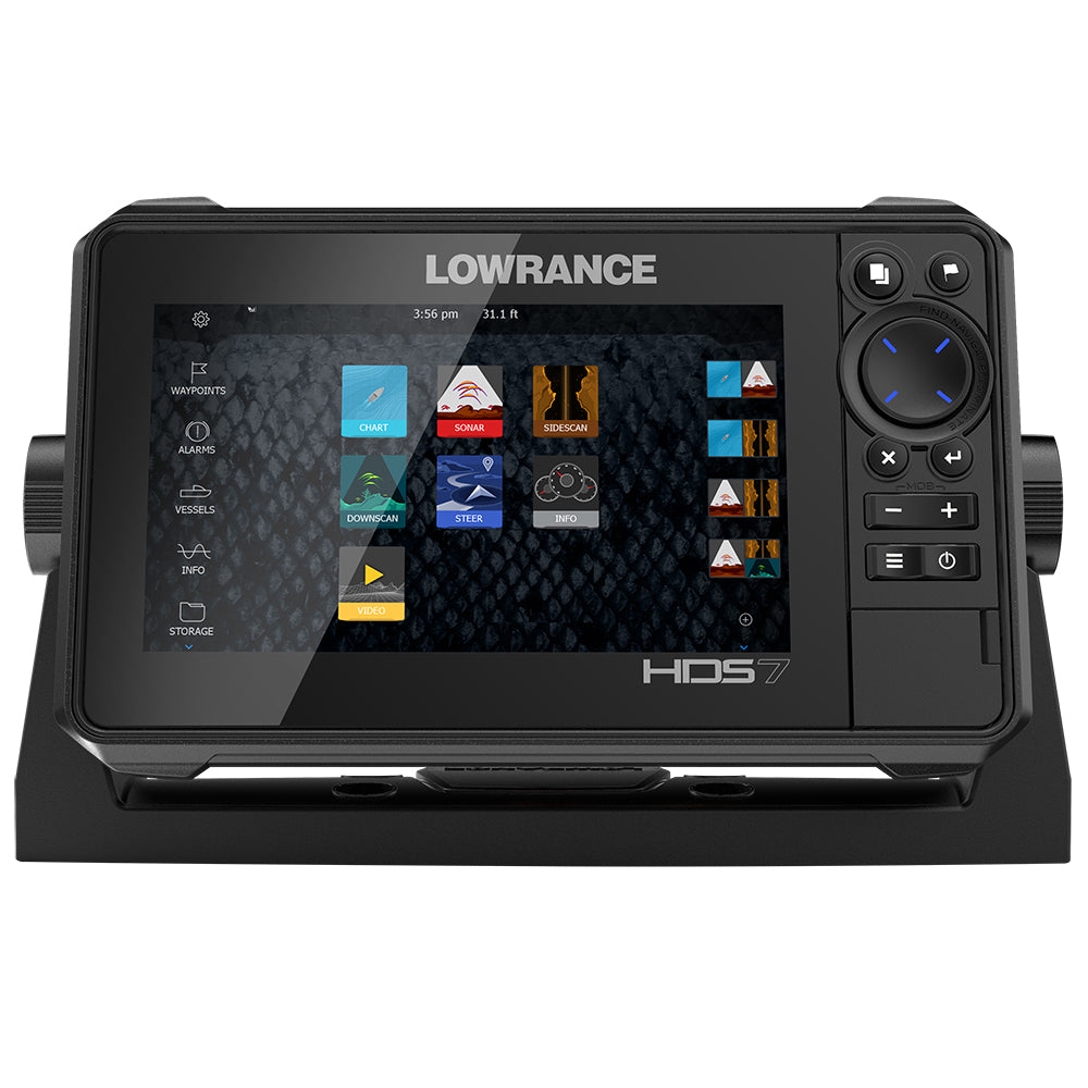 Lowrance HDS-7 LIVE w-Active Imaging 3-in-1 Transom Mount  C-MAP Pro Chart [000-14416-001]