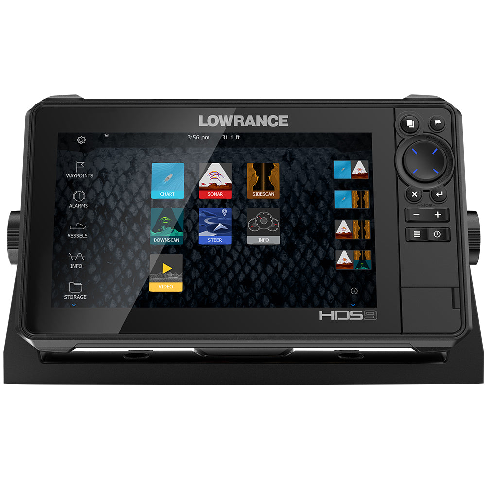 Lowrance HDS-9 LIVE w-Active Imaging 3-in-1 Transom Mount  C-MAP Pro Chart [000-14422-001]