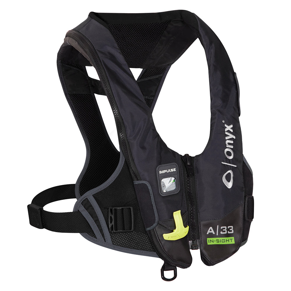 Onyx Impulse A-33 In-Sight Automatic Inflatable Life Jacket (PFD) - Black [133900-700-004-19]