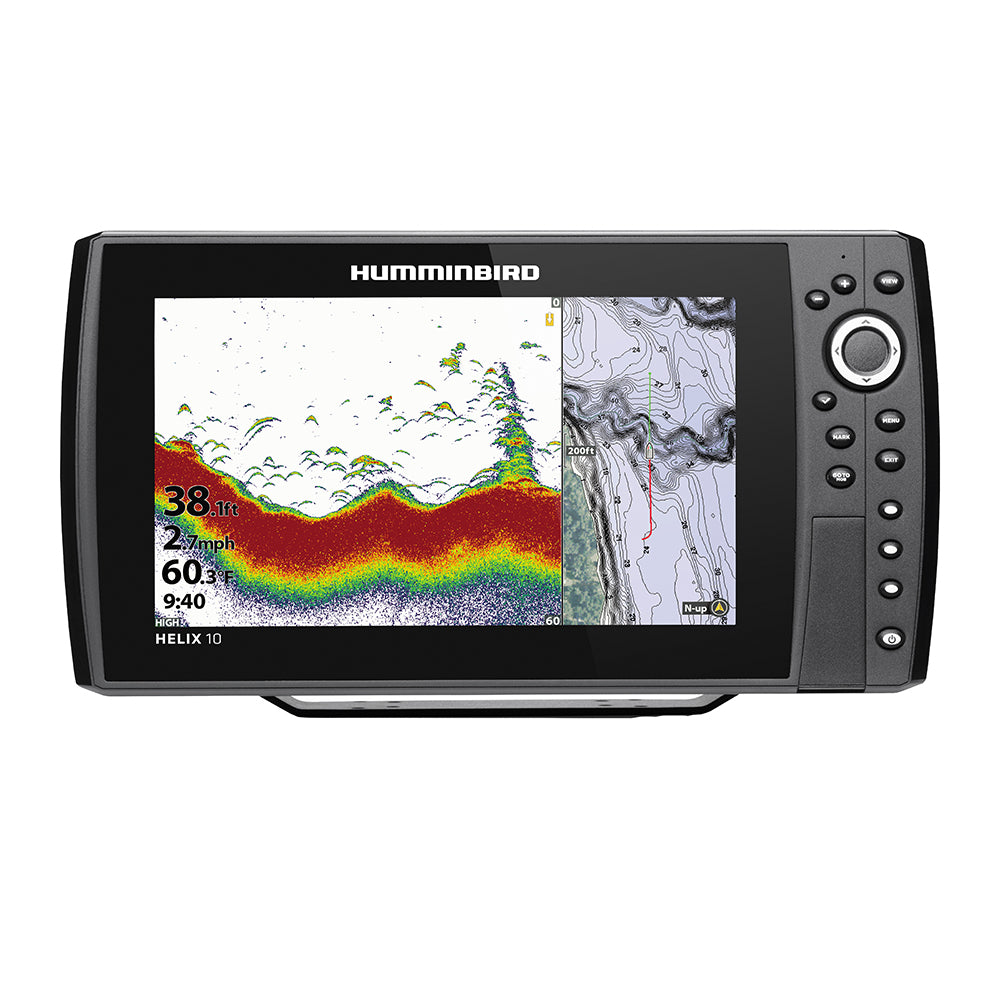 Humminbird HELIX 10 CHIRP Fishfinder-GPS Combo G3N w-Transom Mount Transducer [410870-1]