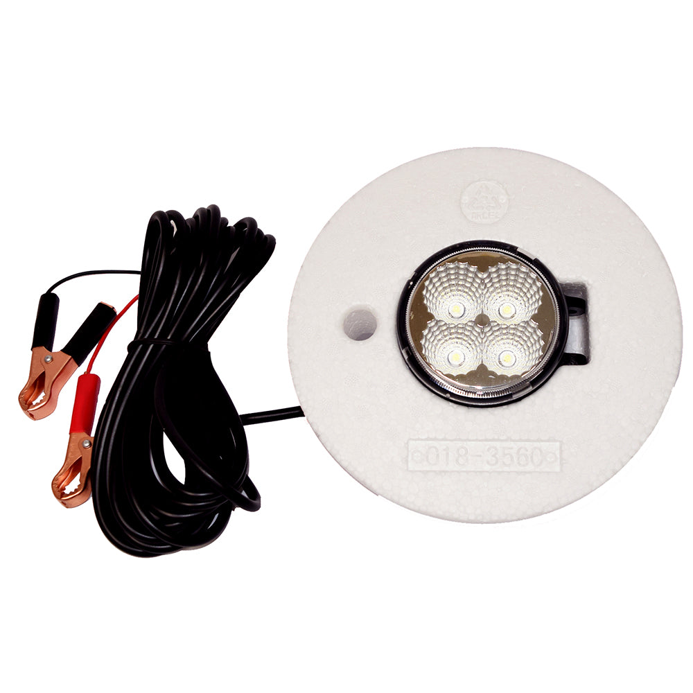 Hydro Glow FFL12 Floating Fish Light w-20 Cord - LED - 12W - 12V - White [FFL12W]