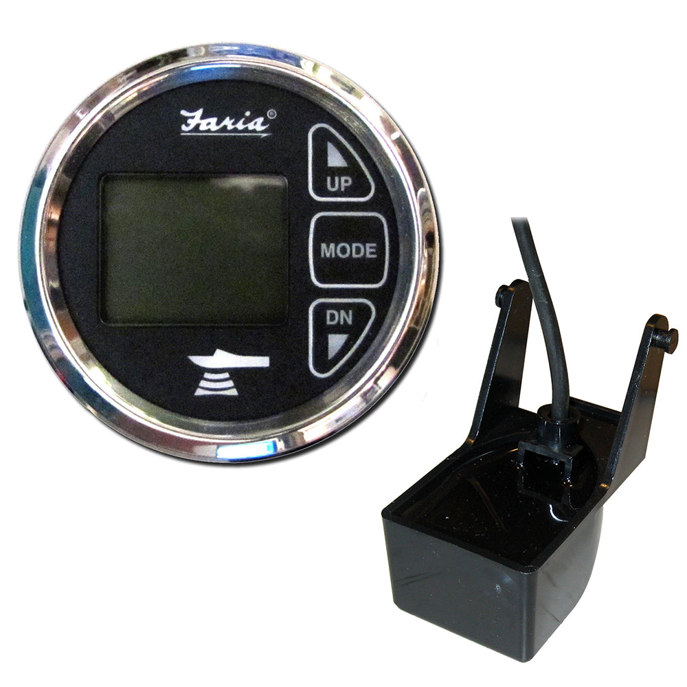 "Faria 2"" Dual Depth Sounder w-Air  Water Temp Transom Mount Transducer - Chesapeake SS Black [13752]"