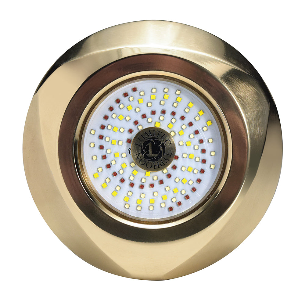Lumitec Typhoon Underwater Bronze Thru-Hull LED Light - White-Blue [101448]