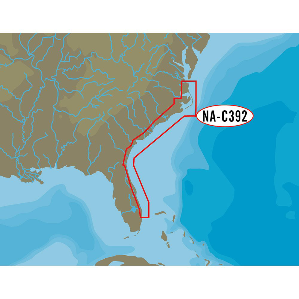 C-MAP NT+ NA-C392 ICW Norfolk to West Palm Florida- C-Card Format [NA-C392C-CARD]