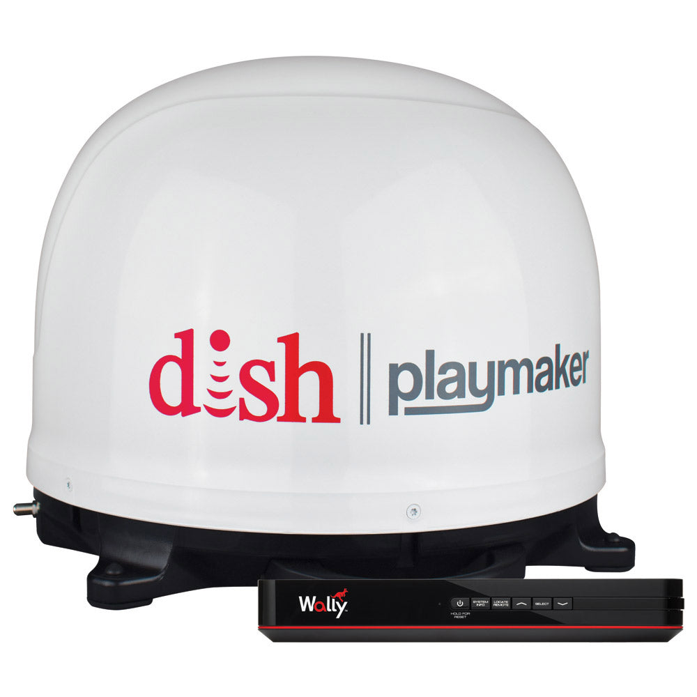 Winegard DISH Playmaker Bundle Gen2, Portable Satellite TV Antenna - White Dome w-Wally Receiver [PL7000R]