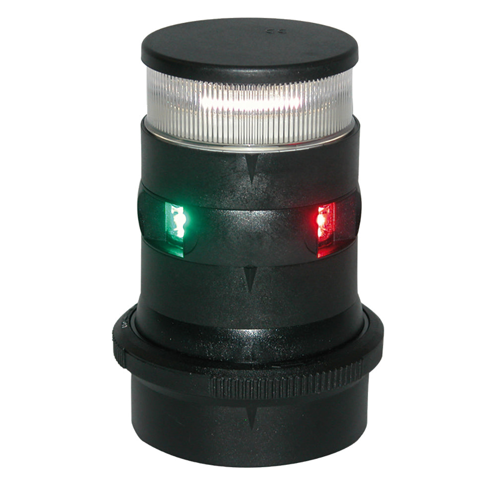 Aqua Signal Series 34 Tri-Color-Anchor Mast Mount LED Light - Black Housing [34706-7]