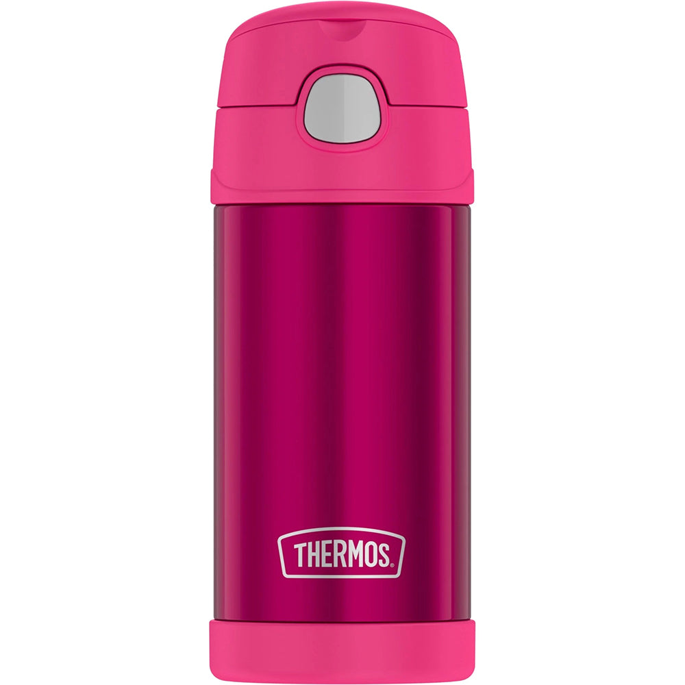 Thermos FUNtainer Stainless Steel Insulated Pink Water Bottle w-Straw - 12oz [F4019PK6]