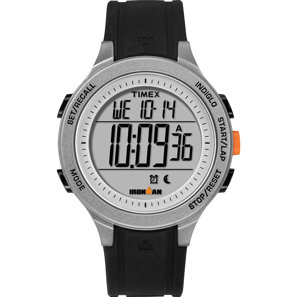 Timex IRONMAN Essential 30-Lap Unisex Watch - Black-Grey-Orange [TW5M24600JV]