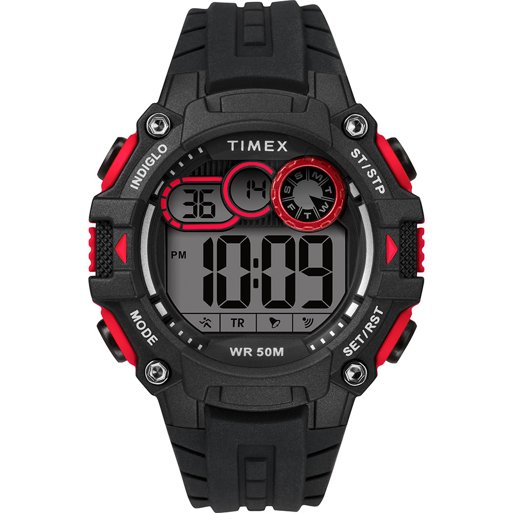 Timex Mens Big Digit DGTL 48mm Watch - Red-Black [TW5M27000JV]