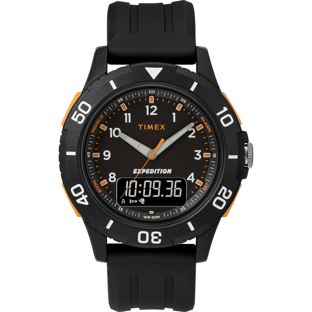 Timex Expedition Katmai Combo 40mm Watch - Black Case, Dial  Strap [TW4B16700JV]