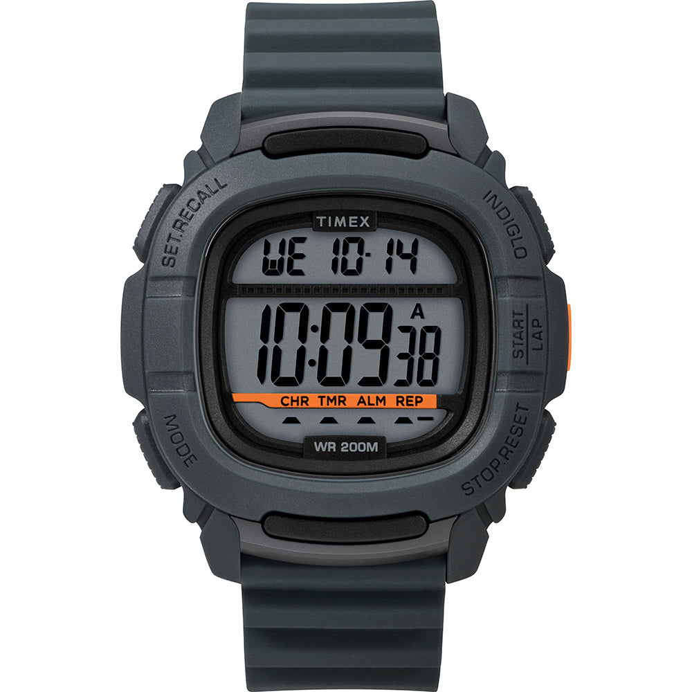 Timex DGTL BST.47 Boost Shock Watch - Grey-Orange [TW5M26700JV]