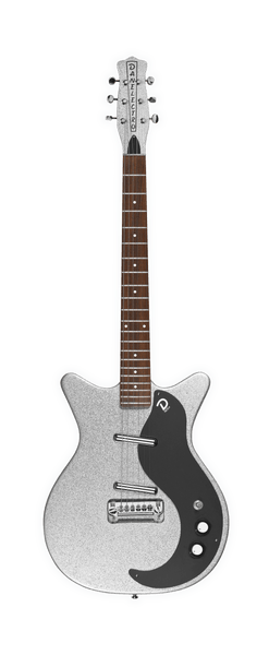 Danelectro 59M NOS+ (in Silver Metal Flake) - Harbor Music