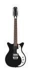 Danelectro 12-String 59 (Black with Tortoise Pickguard) - Harbor Music