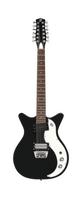 Danelectro 12-String 59 (Black with White Pickguard) - Harbor Music