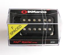 DiMarzio PAF® DP261 F Spaced Black Master Bridge Pickup - Harbor Music